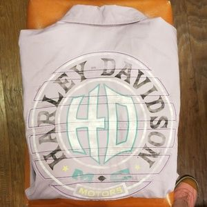 Harley-Davidson size Large Purple Snap Up Top